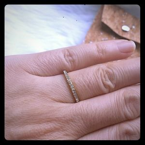 Anthripologie Paved Ring NWOT Size 6